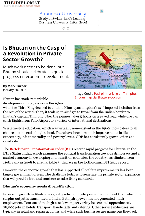 Bhutan on the Cusp