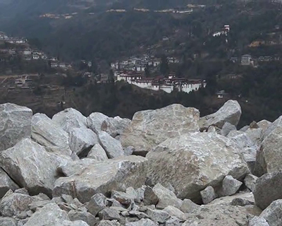 Blasting from road widening could damage Trongsa Dzong locals fear